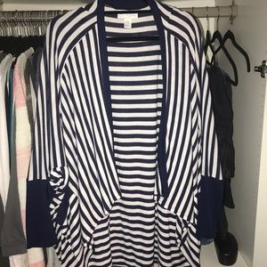 Jessica Simpson maternity blue and white striped
